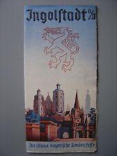 Ancien dépliant touristique  Guide de INGOLSTADT avec une carte de la ville