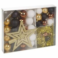 33 Pcs Christmas Tree Decoration Baubles Set Xmas Shatterproof Balls Ornaments