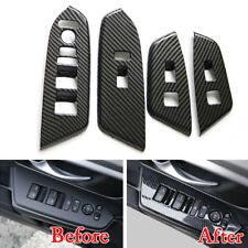 For Honda CRV 17 Car Door Handle Armrest Cover Window Lift Trim Carbon Color x4