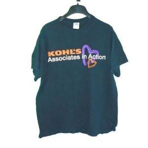 Kohl's Shirt Work Employee Black Large Kohls