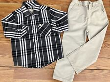 Burberry Children Outfit Set Toddler Baby Adjustable Sleeve Shirt Pants 18 M