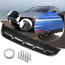 "26""x5"" Matte Black Car Rear Shark Fin Style Curved Protector Bumper Lip Diffuser"
