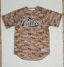 MAJESTIC SAN DIEGO PADRES AUTHENTIC CAMO BASEBALL COOL BASE MEN'S JERSEY SIZE: M