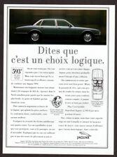 1994 JAGUAR XJ6 Sedan Vintage Original Print AD  - Black car photo french canada