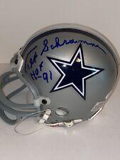 Tex Schramm Signed Dallas Cowboys Mini Helmet JSA K32666