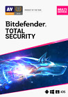 Bitdefender Total Security 2021 -  5 Devices for 1 Year - Digital Delivery