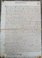 1773 40) BRESCIA MANIFESTO MANOSCRITTO AUTOGRAFO VENDREMIN SU CITTA' DI RODIANO