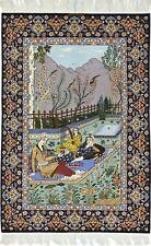 Feiner Isfahan auf Seide signiert Perserteppich Orientteppich 2,10 X 1,40