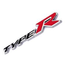 3D Metal Chrome Type R Emblem Badge Black/Red Door Fender Decal For Civic EK EG