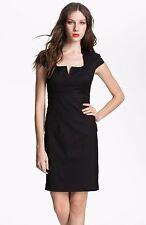New Ted Baker London Agned  Wool Blend Sheath Dress Size 3 (US 8-10) Black