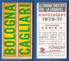 ADESIVO CALCIATORI PANINI 1970/71 - NUOVO/NEW - BOLOGNA/CAGLIARI - SERIE A