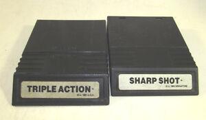 Sharp Shot & Triple Action (Intellivision, 1982) Rare White Label Games Nice