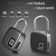 Anti-theft Fingerprint ID Smart Keyless Lock Door Case Bag Padlock Waterproof