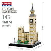 Balody Architecture Big Ben Tower Diamond Mini Building Nano Blocks Kids DIY Toy
