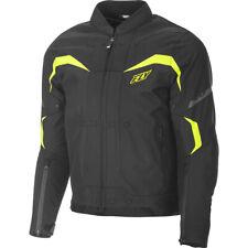 Fly Racing Butane Street Motorcycle Jacket Black & Hi-Vis Yellow Size Large NEW