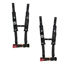 "Pro Armor 4 Point Harness 2"" Pads Seat Belt PAIR BLACK RZR 800 RZR4 XP900 900 S"