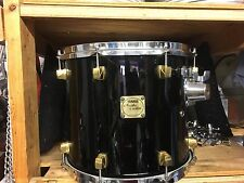 "Yamaha 14"" Maple Custom  FloorTom Drum- Black with Gold Lugs"