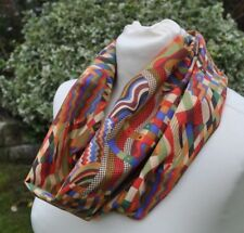 Snood/cowl in John Lewis cotton lawn 'Gustav Klimt' red blue green abstract