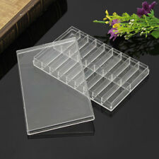 18 Grid Transparent Plastic Storage Case Box For Watch Pin Spring Bar Screw Bead
