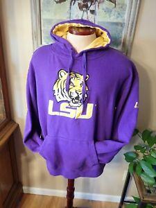 Unisex Stadium Athletics Purple LSU TIGERS College Pullover Hoodie XXL