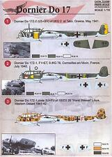 Print Scale Decals 1/72 DORNIER Do-17 German WWII Bomber