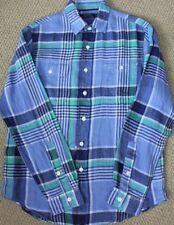 Polo Ralph Lauren Button Shirt S M Linen L/S NWT Men's Blue Green White