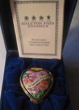 Halcyon Days Enamel St. Valentine's Day 2002 Heart Shaped Box – Orig. Box - Mint