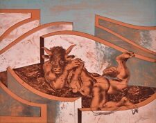 """ERNI HANS """"Minotaurus"""" 1958 handsignierte Originallithografie! TOP"""