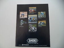 advertising Pubblicità 1987 SHOEI e EDDY LAWSON/JEFF WARD/WAYNE GARDNER/SARRON