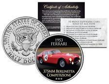 1953 FERRARI BERLINETTA COMPETIZIONE Expensive Auction Car JFK Half Dollar Coin