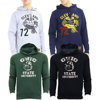Mens Sweatshirt Brave Soul Over The Head Hoodie OHIO Pullover Top CLEVELAND New