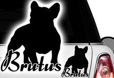 1x Richiesta Nome 12x10cm Nome Adesivo Bulldog Francese Bulldog Bully Auto