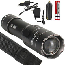 5000LM CREE XM-L T6 LED Flashlight Focus Torch Light Lamp Zoom 18650 Charger