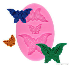 Butterfly Detailed 3 Cavity Silicone Mold for Fondant Cake Decorating