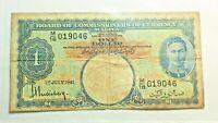 MALAISIE : 1 DOLLAR 1941. GEORGE VI