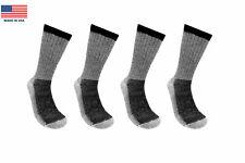 4 Pairs 71% Premium Merino Wool Crew Hiking Socks Made in USA Men & Women