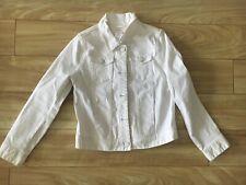 J.Crew Crewcuts Girls White Denim Jacket Size 8 Kids Good Used Condition