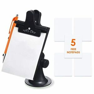 Mobi Lock Car Note Pad/Memo Pad/Clip Board with Pen Holder | Universal Suction,