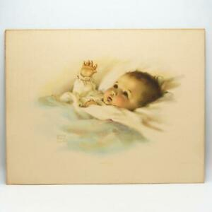 """Vintage Original Bessie Pease Gutmann Baby Print """"Awakening"""""""