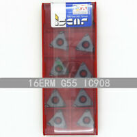 ISCAR 16ERM G55 IC908 Threaded blade Carbide Inserts 10Pcs