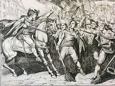 Bartolomeo PINELLI (1781-1835) d'après Giuseppe Berneri estampe Italie XIXe j