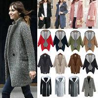 femmes hiver chaud veste laine manteau long Trench-coat Parka extérieur