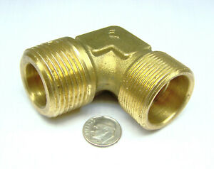 """LEGRIS 0109 25 32 NOS 90 ELBOW ADAPTER BRASS 25MM COMPRESSION TUBE X 1"""" M BSPT"""