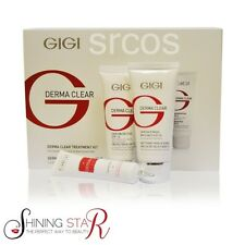 GiGi Derma Clear Treatment Kit for Acne Oily skin 3 Products Free Facial Brush