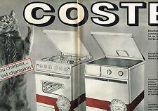 PUBLICITE ADVERTISING 014   1964    COSTE  cuisinière à charbon ( 2 pages)