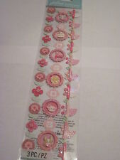 Scrapbooking Crafts Jolee's Baby Girl Page Borders 3 Pink Strollers Flowers More