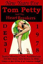 BREAK DOWN!  Tom Petty & Heartbreakers at Santa Monica Civic NYE Poster 1978