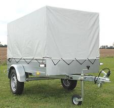 PKW Anhänger STEMA 750 kg Hänger Autoanhänger mit Plane grau Spriegel + Stützrad