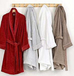 Mens Ladies 100% Cotton Towelling Bathrobe Bath Towel Night Dressing Gown New