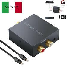 Convertitore audio digitale DAC  adattatore RCA analogico ottico L / R Toslink